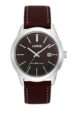 LNP OS RH925BX9 Lorus Mens Stainless Steel Leather Strap Watch