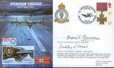 JS50 43/5 WWII Op CHASTISE RAF Dambuster 617 cover signed FENERON + HEAL DFM