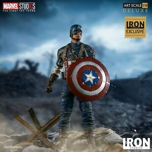 IronStudios 1/10 MCU 10th Anniversary Captain America Figure Statue Doll