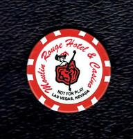 """RARE MOULIN ROUGE CASINO CHIP 2, """"NOT FOR PLAY"""", LAS VEGAS, NEVADA"""