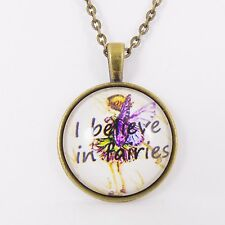 I BELIEVE IN FAIRIES NECKLACE cottingley victorian vintage retro enchanted peter