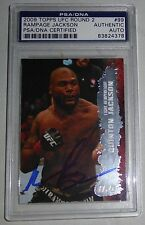 Quinton Rampage Jackson Signed UFC 2009 Topps Card #99 PSA/DNA COA Autograph 71