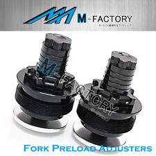 Fit Suzuki GSF 600 Bandit 00-04 Black Billet Fork Preload Adjusters Stabilizer