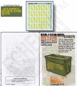 ECHELON DECALS 1/35 NAM/COLD WAR ERA .50CAL M2 AMMO BOX LABELS   356276