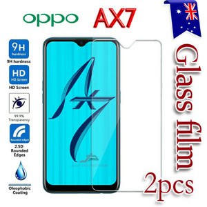 2x Oppo AX7 Tempered Glass LCD Screen Protector Film Guard Anti Scratch