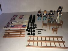 PLAYMOBIL 3773 FORT BRAVO Soldiers Weapons Horse Flags Connectors NOT COMPLETE