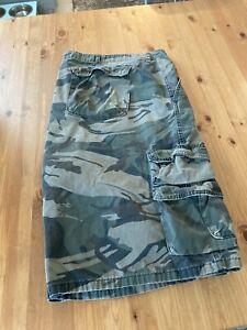 """Wrangler Green Camouflage Cargo Shorts 52"""""""