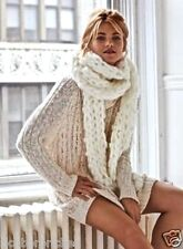 "NWT Free People ivory Unisex Chunky Knit Extra Long Scarf 6"" x 115"" $58"
