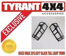 #0272016 Isuzu Dmax 2012-2017 Black Tail Light Trims Covers Taillamp Surrounds