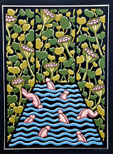ROBERT GORDY (Louisiana 1933-1986) SIGNED Waterbabies RARE 18-Screen SERIGRAPH