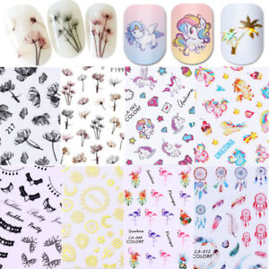 3D Nail Sticker Dream Catcher Rose Nail Art Adhesive Transfer Decals Tip