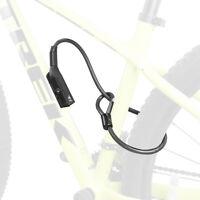 "BV Bike Lock Key Cable 27.5"" Double Security Lock Frame Mount Anti-Theft 3 Keys"