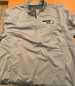 Nike Seattle Seahawks Dri-FIT Short Sleeve Hot Jacket Medium