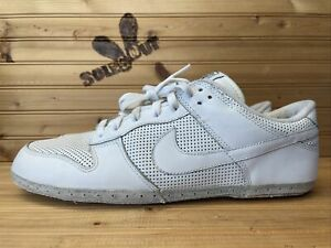 2005 Nike Dunk Low sz 12 White Drum Island Pack NO SOLE FOR CUSTOM 309431-112