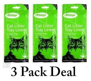 Cat Litter Tray Liners Bags Large Liner x 3 Pack Armitage Bulk Deal