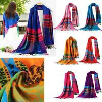 Fashion Women Lady Scarf Floral Little Bee National Wind Wrap Cowl Scarves Shawl