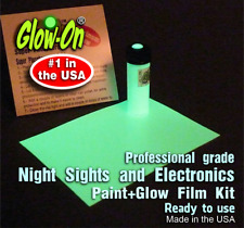 Glow-On® ORIGINAL Super Glow Night Sights paint 4.6ml vial + 7x10cm Glow Film
