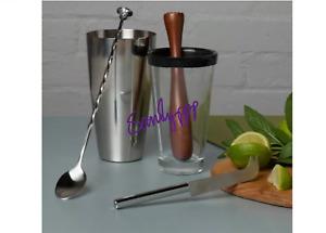 Bar craft Mojito Cocktail 5 Piece Set Making Recipes Mixer Bar Shaker muddler