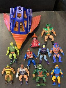 Vintage 1980s MOTU He-Man Masters of The Universe Action Figure Lot Skeletor