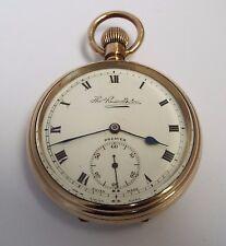 Belle Clean condition Anglais Antique c1910 or laminé Montre de poche travail