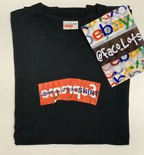 Supreme Comme Des Garcons CDG SHIRT Box Logo Tee Black (XL) 9/10 Con-No Cracking