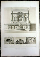176 ~ Rome AQUA JULIA FOUNTAIN AQUEDUCT RESTORED ~ 1910 Architecture Art Print