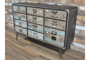 Industrial Chest of Drawers Retro Metal Drawer Storage Unit 5229