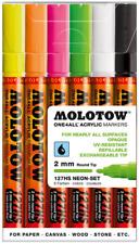 Molotow ONE4ALL 127HS conjunto de marcador - 2 Mm Nuevo En Caja-Neón pintura Pen Set