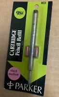 Vintage Parker Mechanical Pencil Cartridge Refill Black Medium NIP carded new