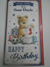 Special Wishes to a Great Uncle Happy Birthday Card Teddy Bears and Football