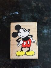 Walt Disney Mickey Mouse Wooden/rubber Stamp, 2 X 1 1/2""