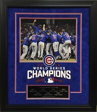 CHICAGO CUBS 2016 WORLD SERIES 11X14  PHOTO AND PLAQUE FRAMED COLLAGE