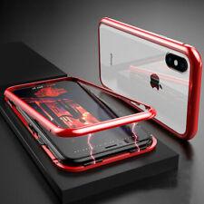 360 ° de vidrio templado Abatible Magnética adsorción de metal caso cubierta para teléfono celular