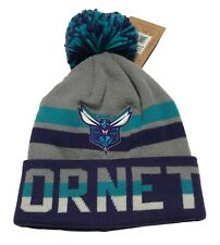 Mitchell & Ness Charlotte Hornets Beanie Winter Knit Hat Pom Stocking Cap NBA