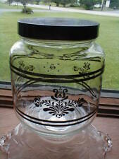 Pfaltzgraff Brown VILLAGE 1 Qt Glass Storage Jar w Lid