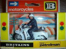 Britains 9697 Police Patrolman 1:32 moto con conductor policía rareza 1974
