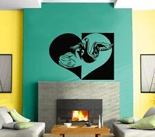 Wall Sticker Vinyl Decal Love Romance Black And White Swan Mural z463