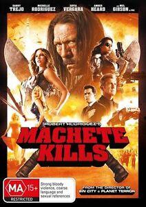 Machete Kills (DVD, 2014) region 2, 4 Like New