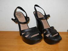 Vince Camuto New Womens Miner Black Leather Heels 10 M Shoes NWOB