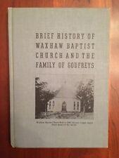 RARE 1939 Brief History WAXHAW Baptist Church & GODFREY Family, North Carolina