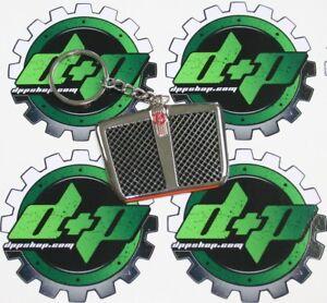 kw kenworth truck grill trucker fob key chain holder logo ring retainer keychain