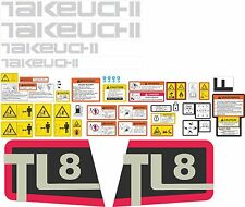 Takeuchi TL8 decal kit. The most complete after market kit available