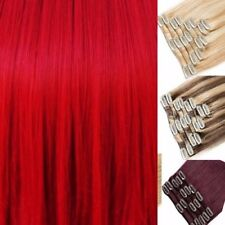 Ginger Auburn Red Chestnut Blonde Hair Extensions Clip in Hair  real Human Feel