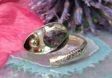 Ring Snake Sterling Silver 925 Amethyst Purple Stone of the February Gilded Ball