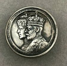 ANTIQUE 1911 ENGLISH STERLING SILVER KING GEORGE V CORONATION BOX