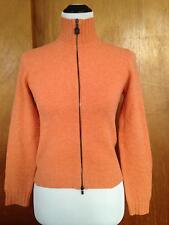 Riva Monti by Bruno Cucinelli Orange Alpaca Wool Blend Orange Sweatshirt Zipper