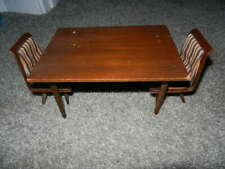 Vintage Mattel Modern Furniture Dining Table & Two Chairs