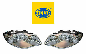 New! Volkswagen Pair Set of Left and Right Xenon Headlights Hella