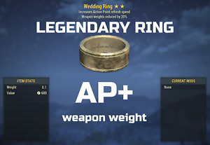 Fallout 76 PC Legendary Ring AP + Weapon weight