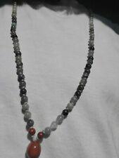 Bloodstone, Labradorite, Agate Hand Knotted Mala Beads Necklace - Sat Narayan